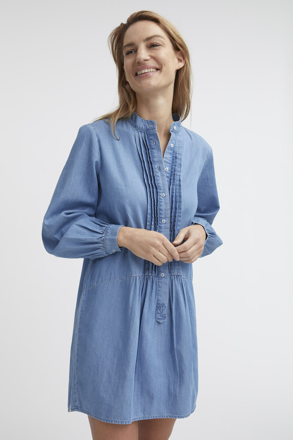 SYLVIE DRESS Cotton & Tencel Blend - Mini