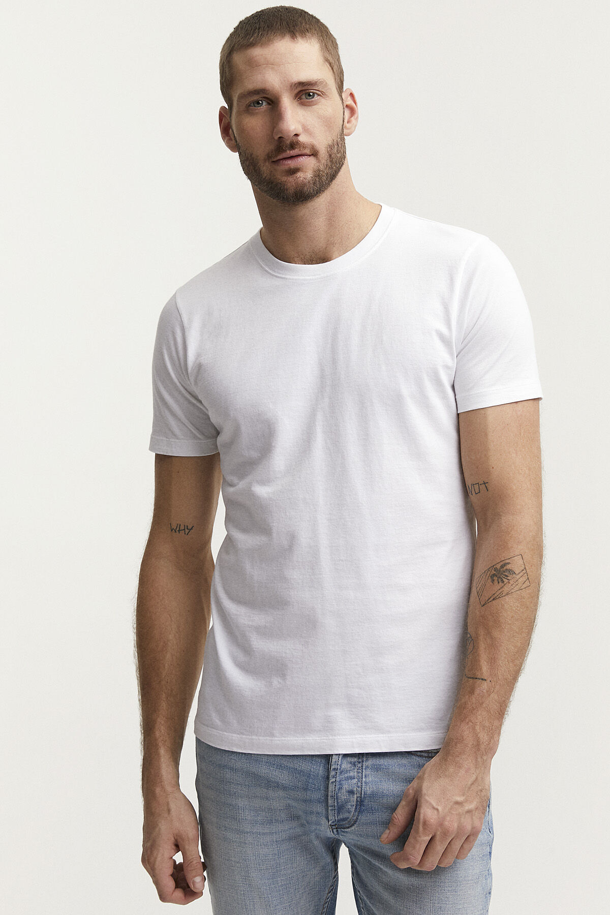 CREW PLAIN TEE Premium Cotton - Slim Fit