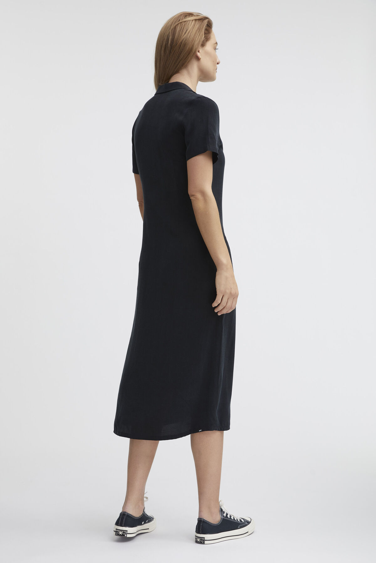 HOLNESS DRESS Silk Touch Cupro - Midi