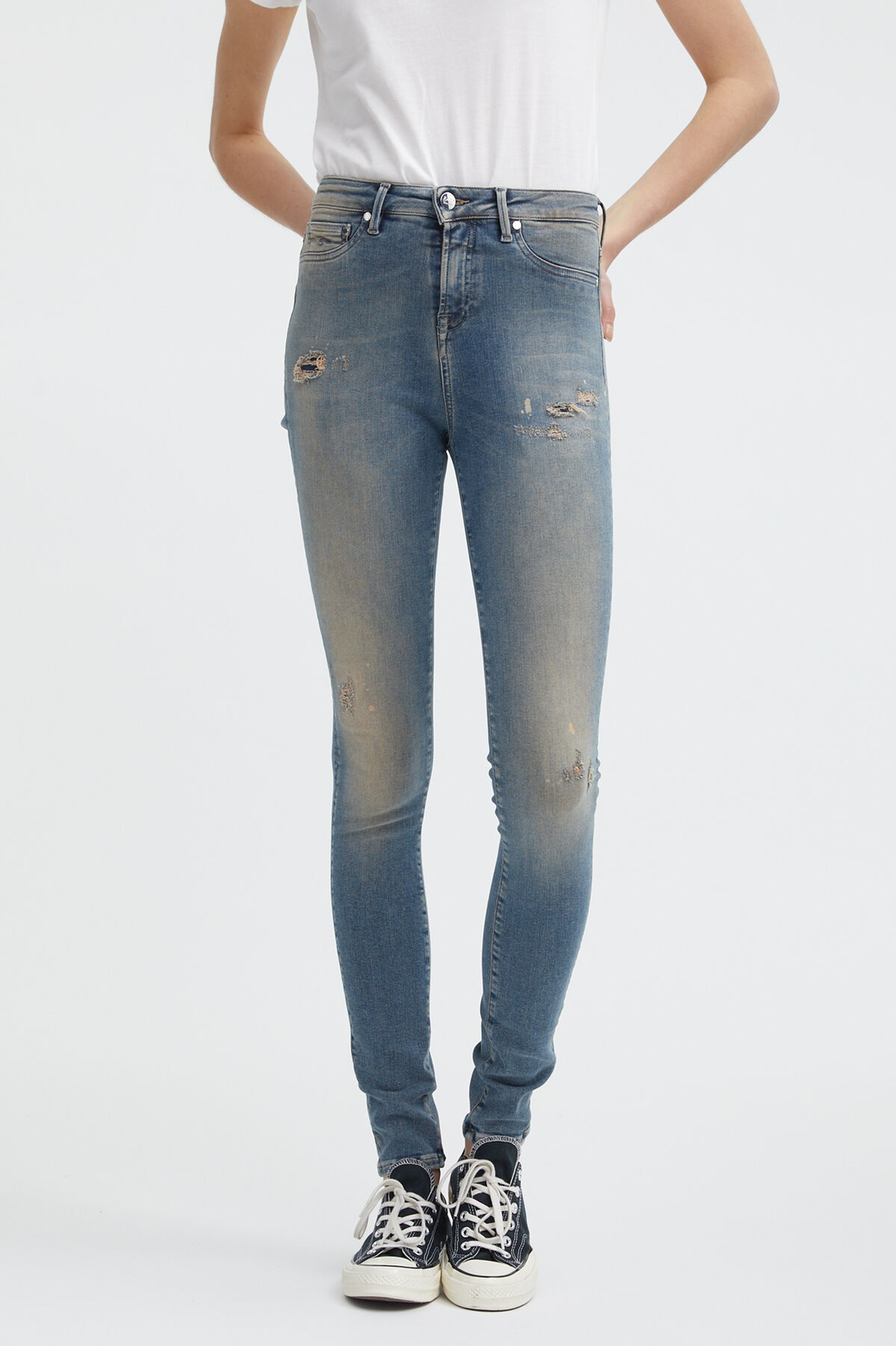 NEEDLE Heavy Fade Denim - High-rise, Skinny Fit