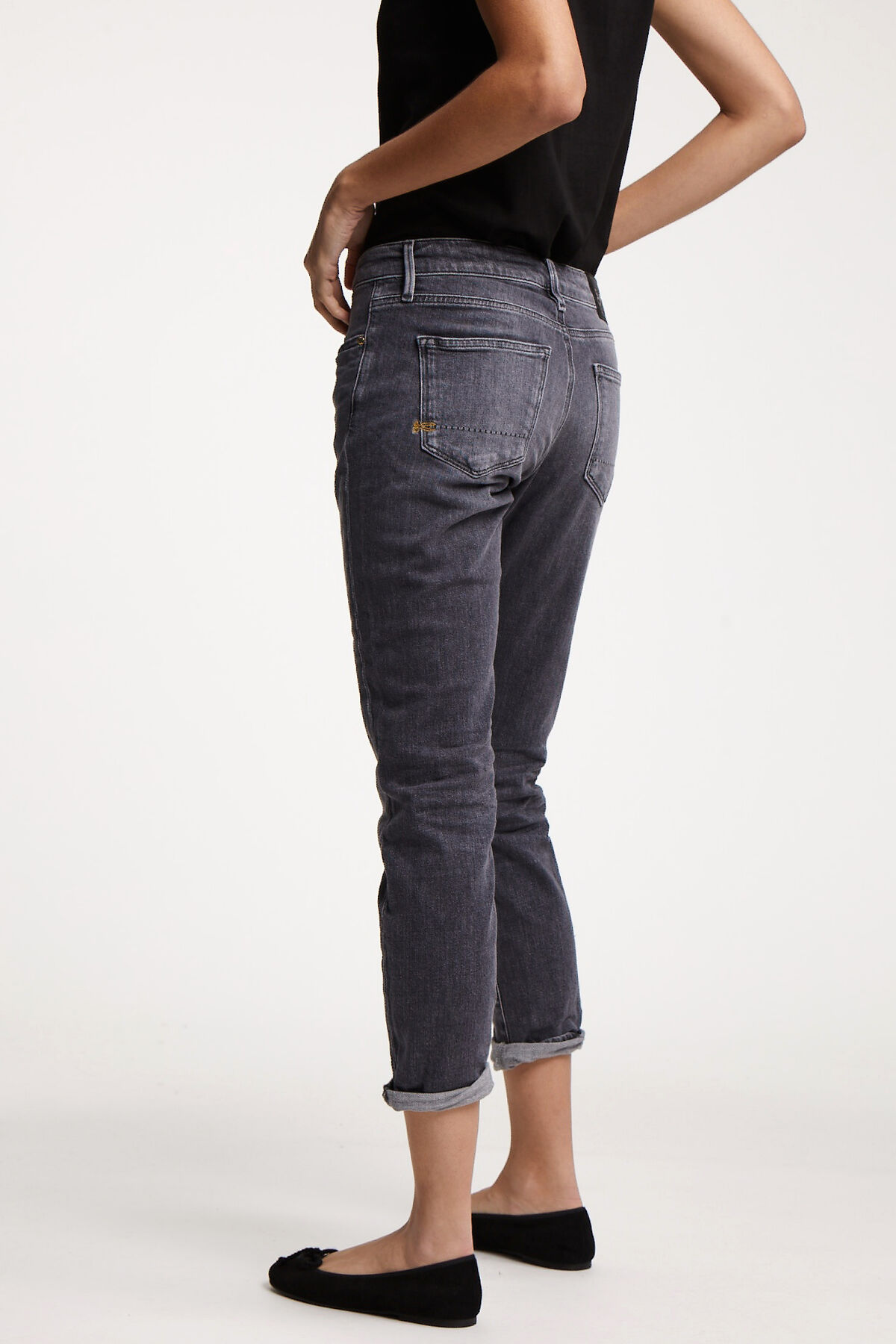 MONROE Mid-grey sustainable denim - Girlfriend Fit
