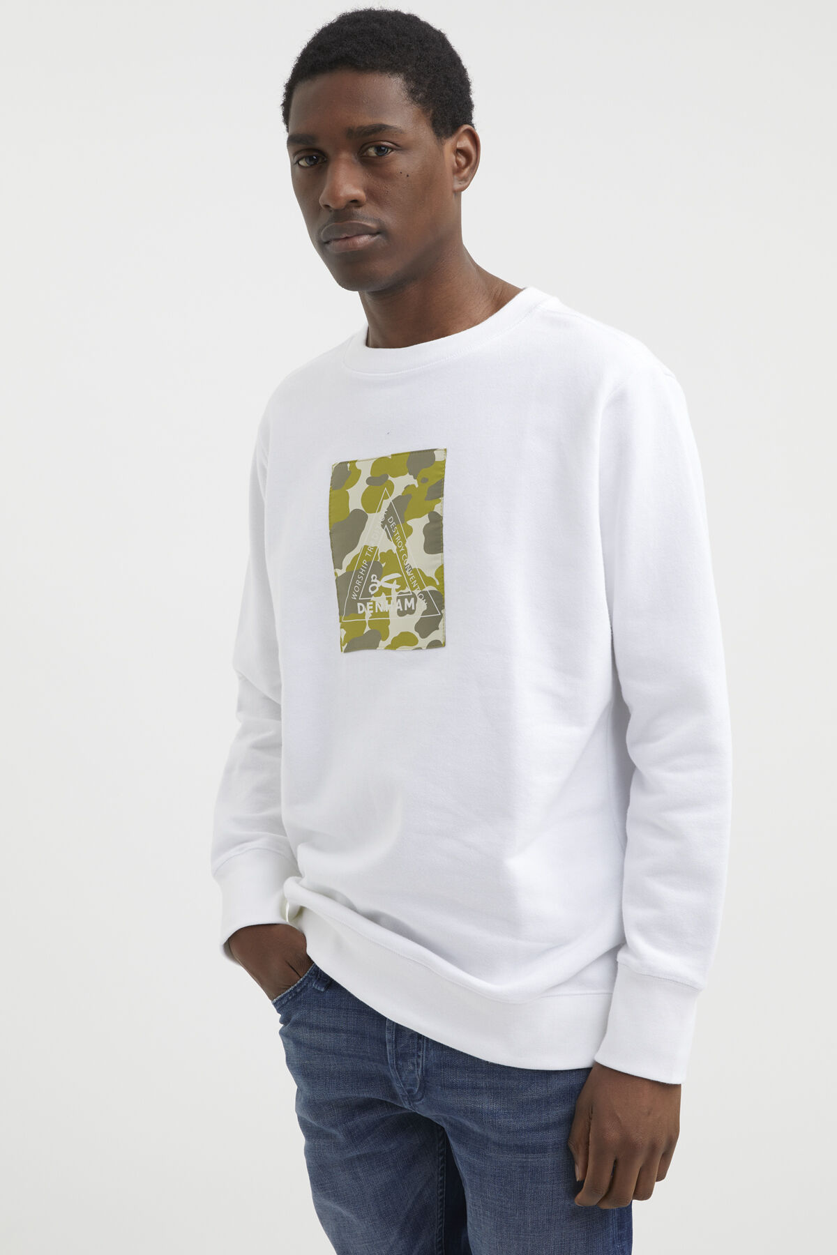 CAMO MONOGRAM BOX SWEAT Soft Cotton Fleece - Boxy Fit