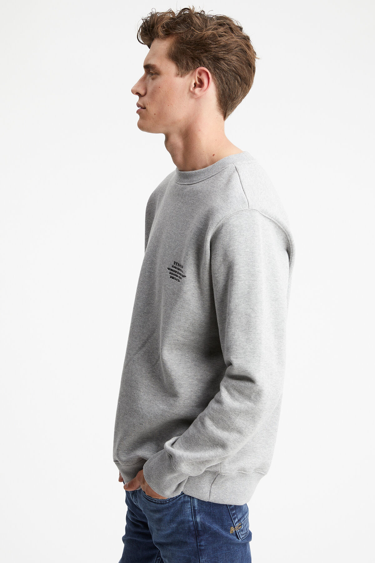 TRINITY SWEAT Contrast Embroidery - Oversized Fit