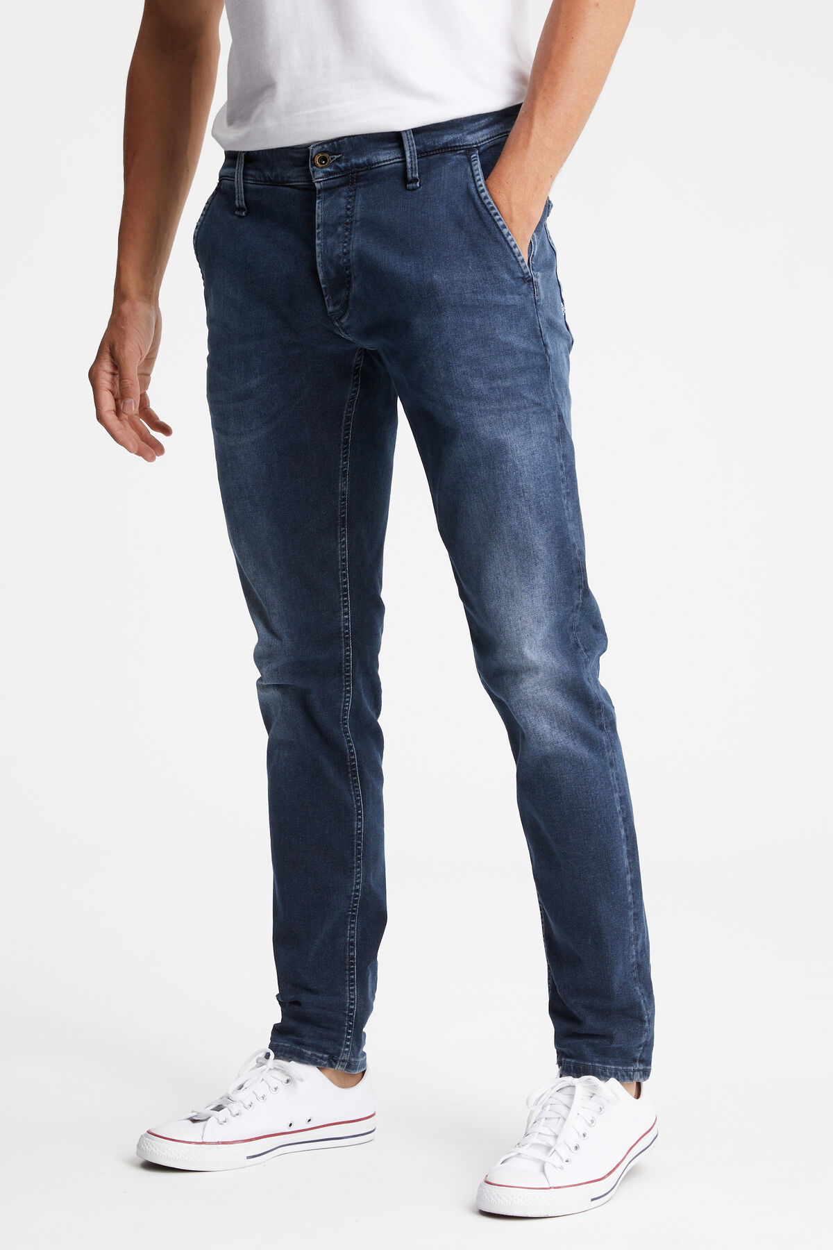 YORK Dark Washed Indigo Denim - Slim, Tapered Fit
