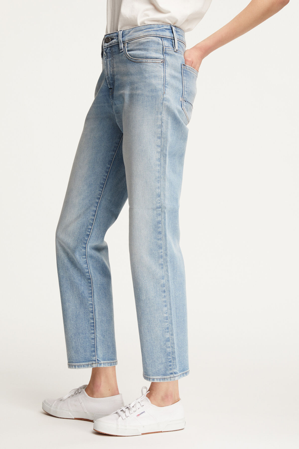 BARDOT STRAIGHT Vintage Indigo Denim - High-rise, Straight Fit
