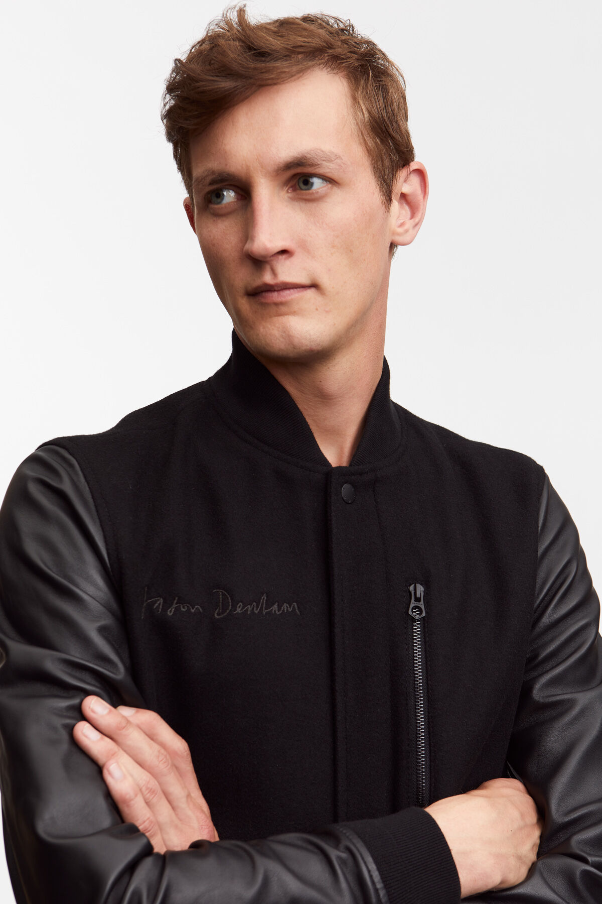 ANDERSON BOMBER JACKET Wool and Leather Blend - Regular Fit