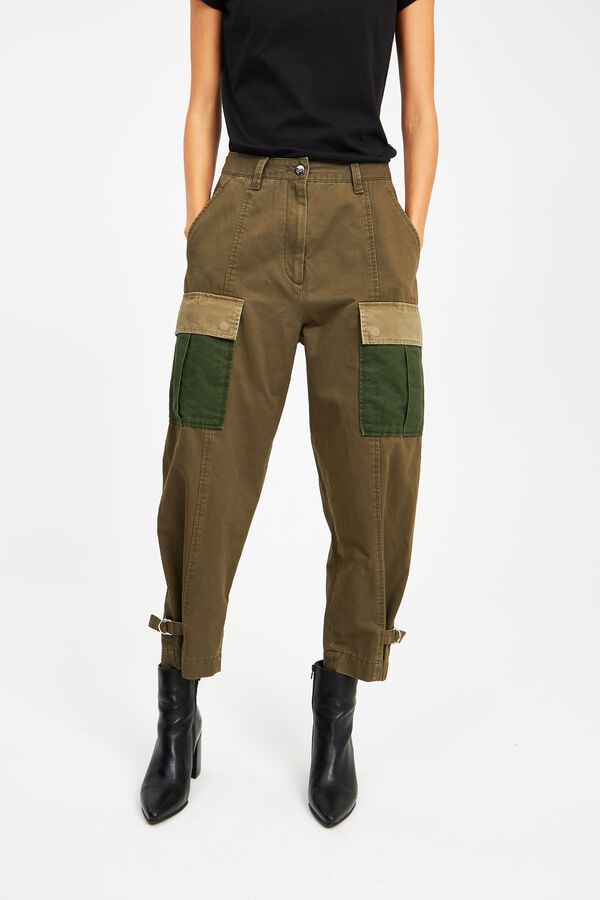 PEACE PANT Rigid cotton - High-waist, Wide Leg Fit