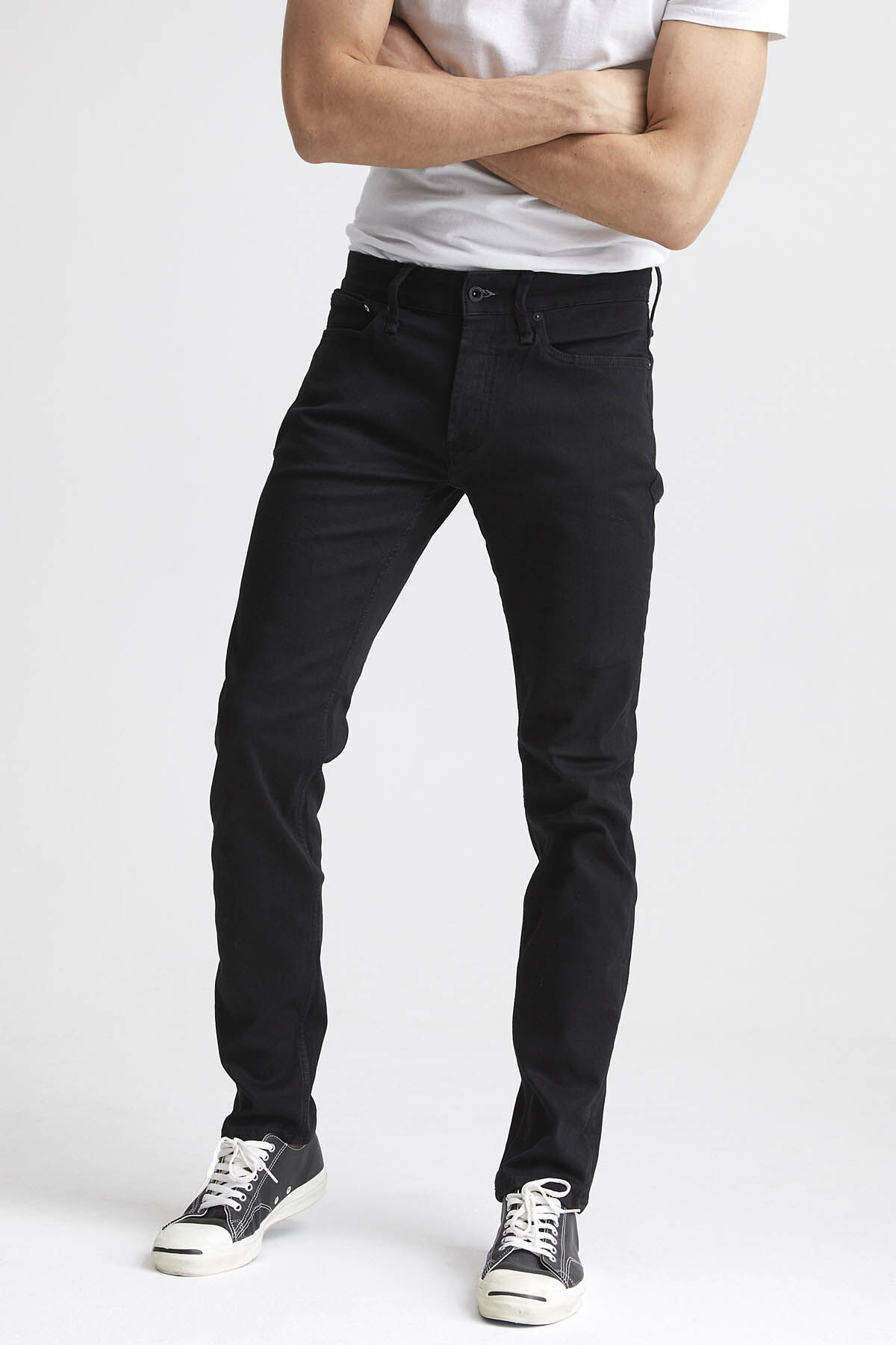 BOLT Pure Black Finish Denim - Skinny Fit