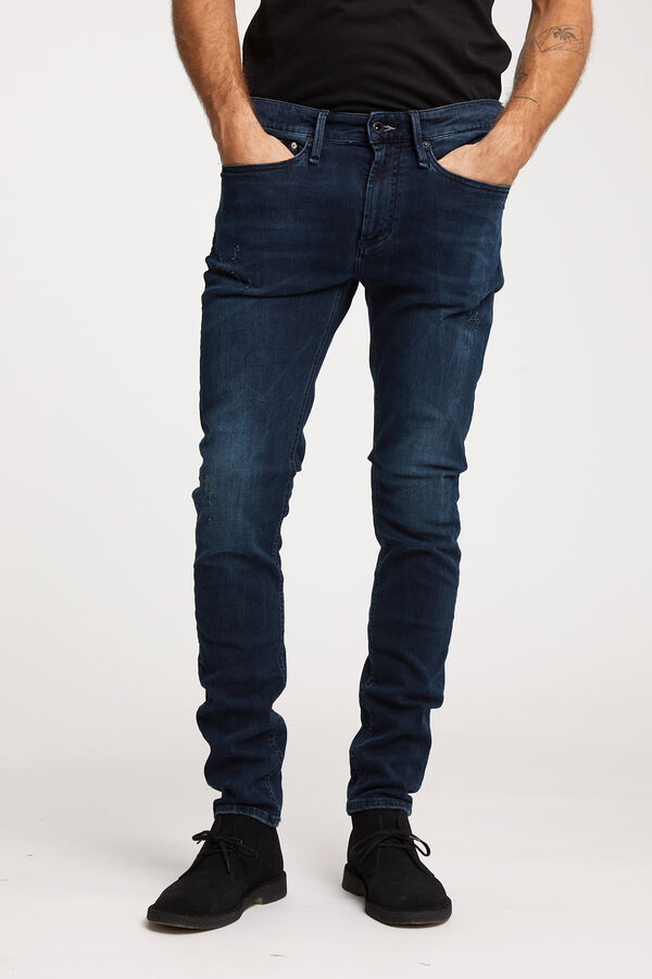 BOLT ZIP Rip & Repair, Indigo Cast Denim - SKINNY FIT