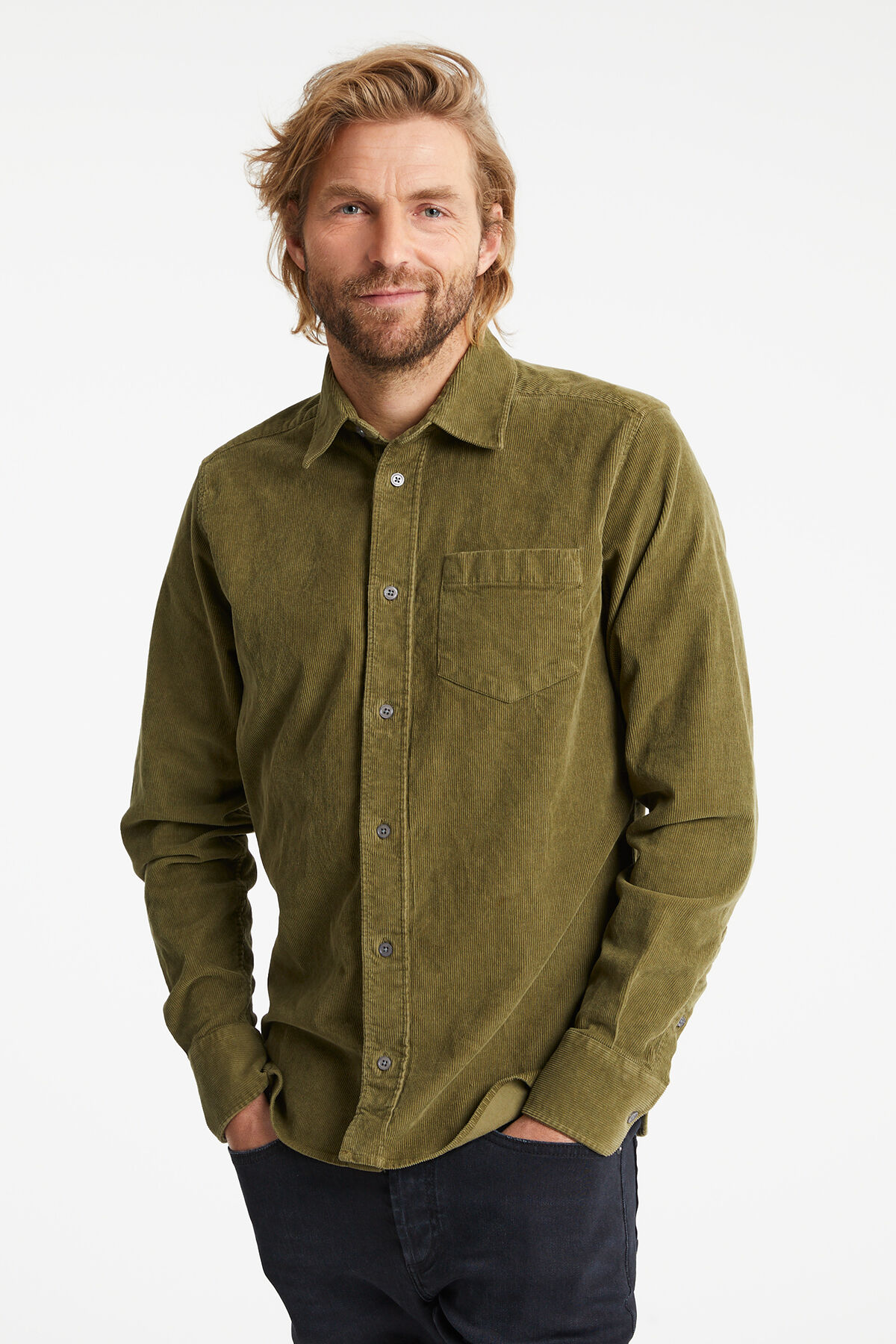 HARRISON SHIRT Stretch corduroy - Slim Fit