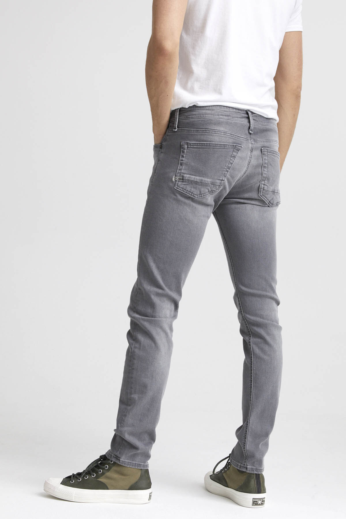 BOLT Grey Subtle Fade Denim - Skinny Fit