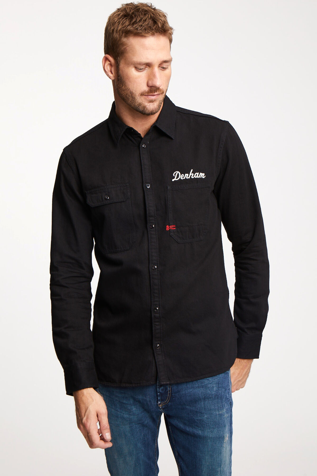 LINCOLN Shirt Back Embroidery - Regular Fit