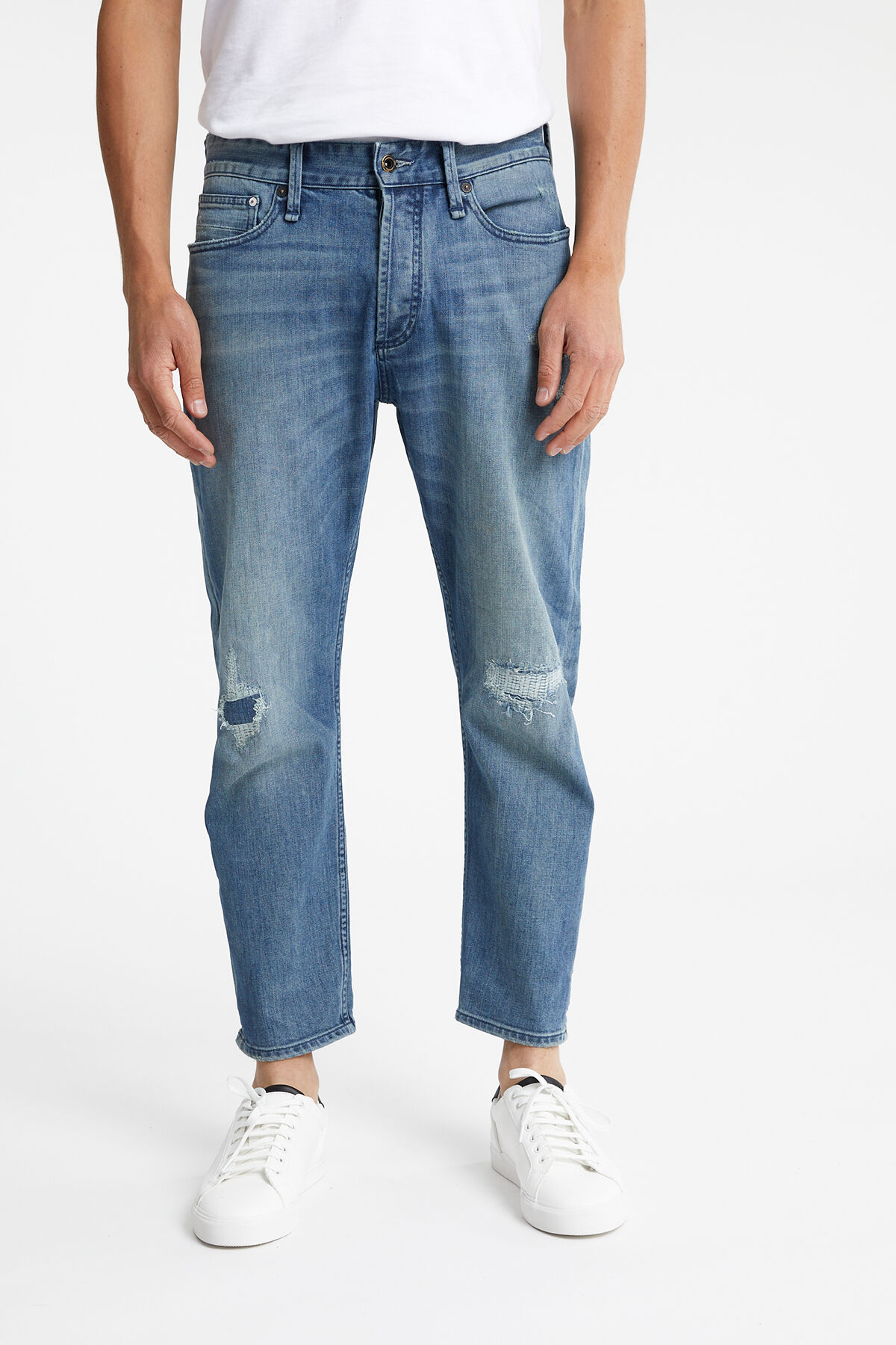 CROP Recycled, Rip & Repair Denim - LOW CROTCH, CROPPED FIT