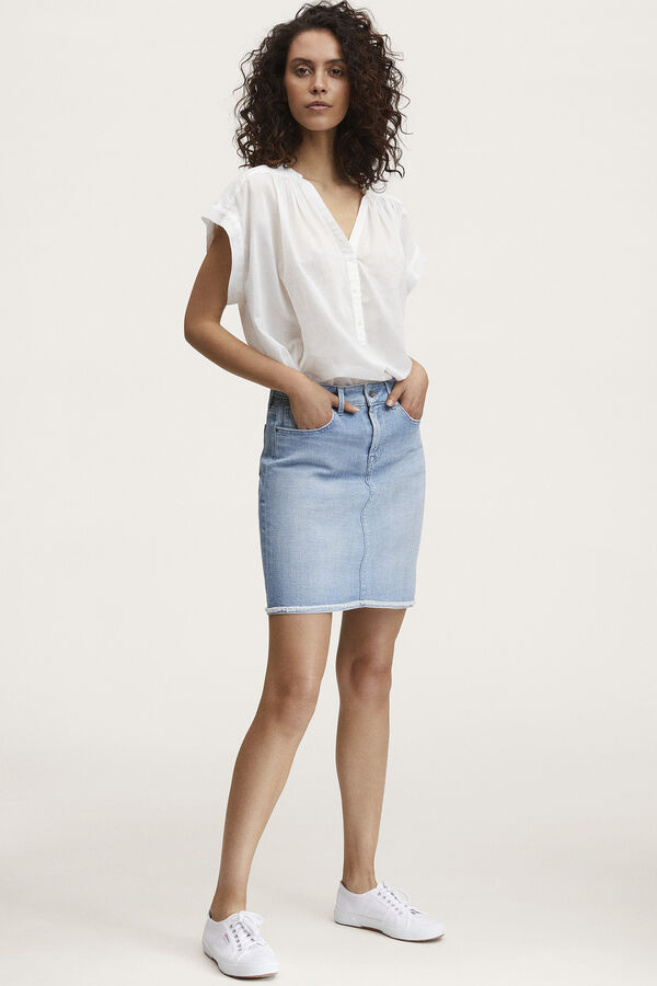 MONROE SKIRT Light Blue Denim - Midi