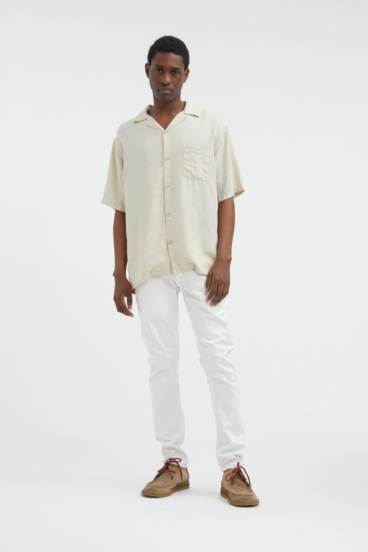 BOWLING SHIRT Tencel & Linen - Slim Fit
