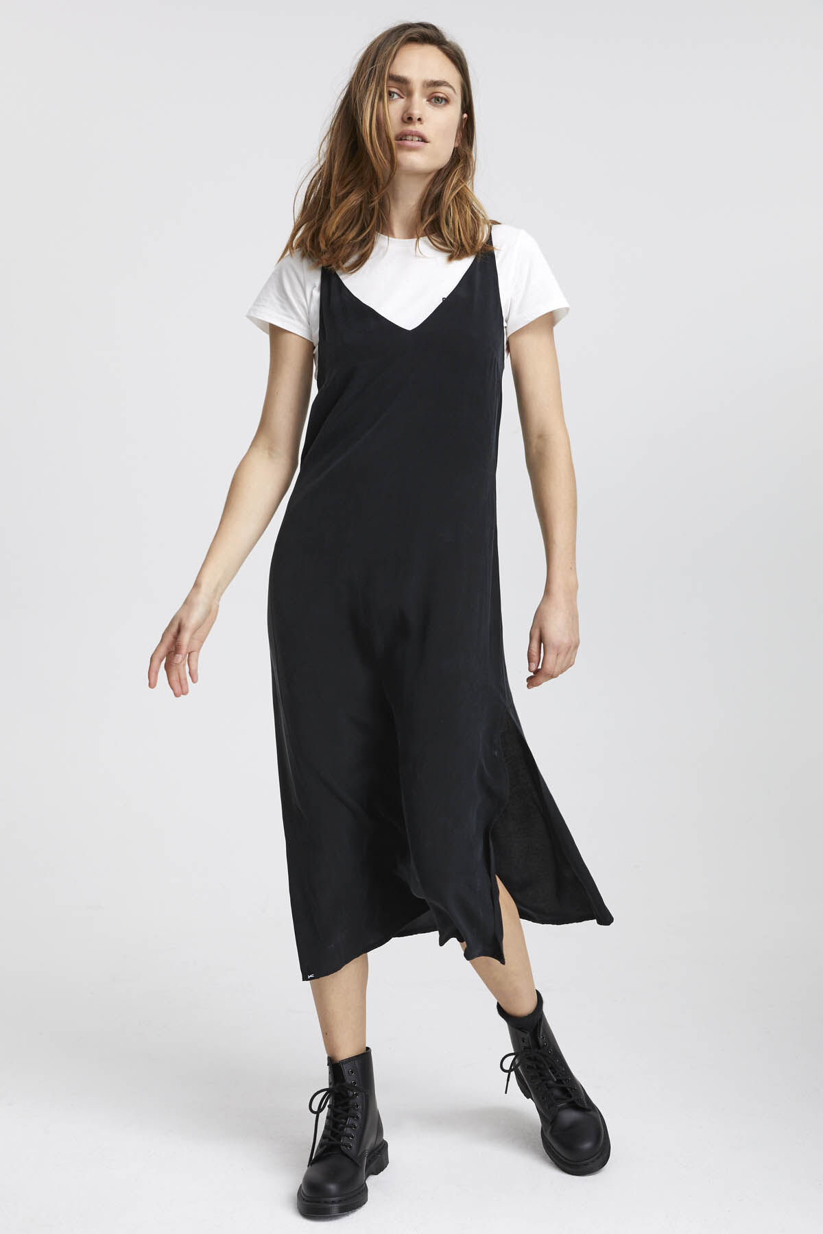 MONICA SLIP DRESS Cotton & Tencel Blend - Midi