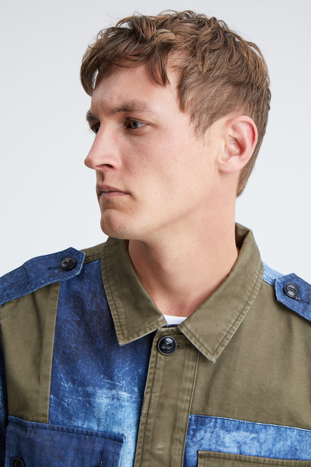 BELFIELD COMBAT JACKET Digitally Printed Cotton - Regular Fit