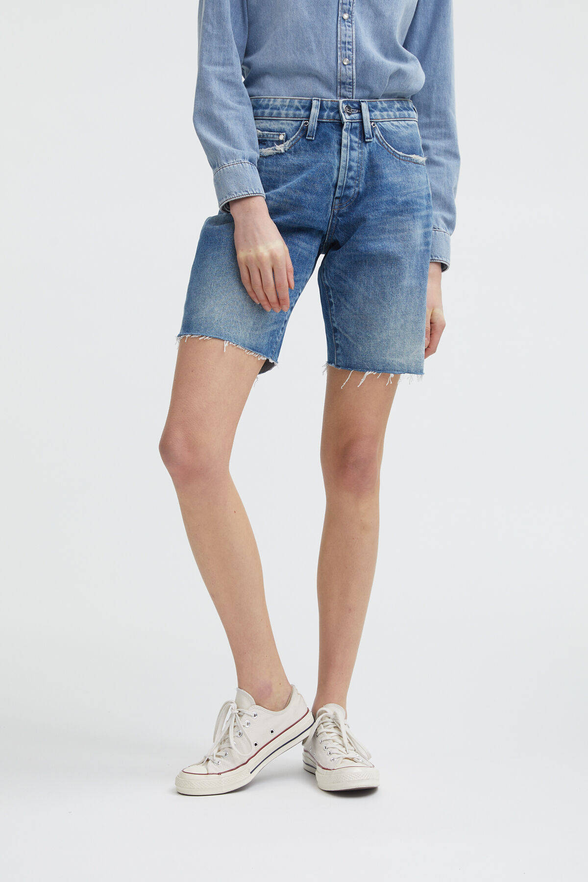 MELROSE SHORT LONGER INSEAM Cut off Hem