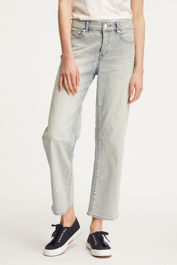 BARDOT WIDE Sun Bleached Indigo Denim - High-rise, Loose Fit