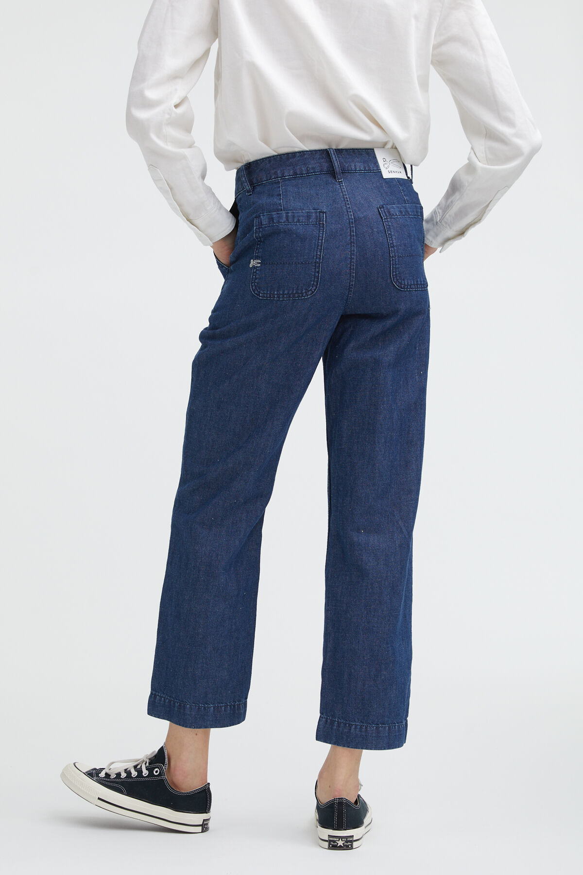 PACIFIC PANT Cotton & Hemp Blend - High-rise Straight Fit