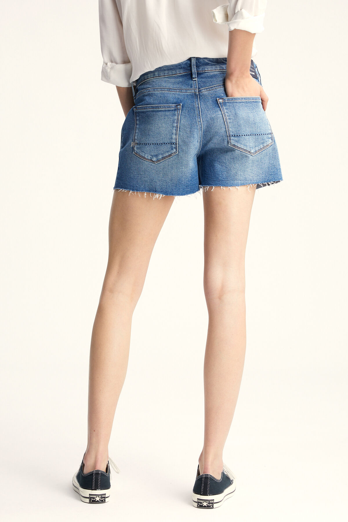 MONROE SHORT Blue Authentic Denim - Regular Fit