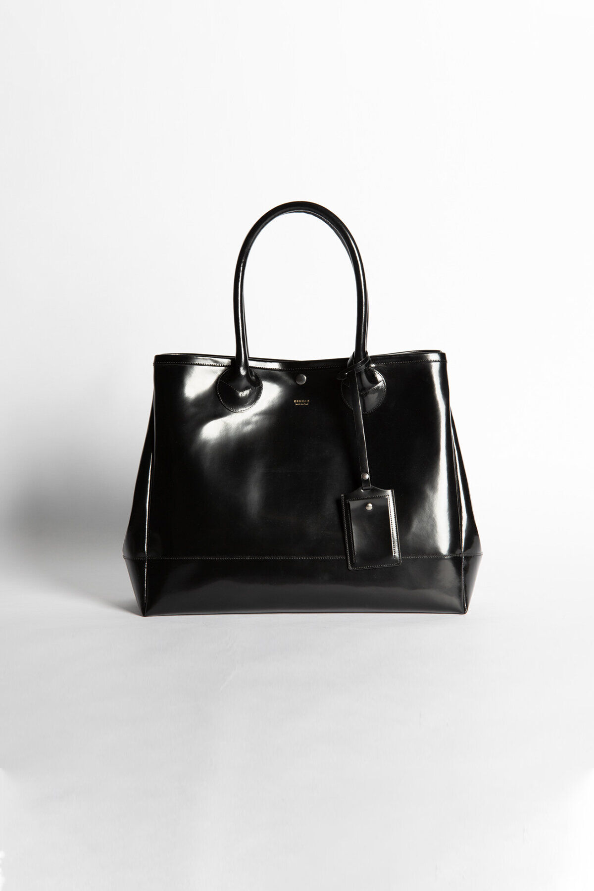 LARGE TOTE BAG Black Patent Leather