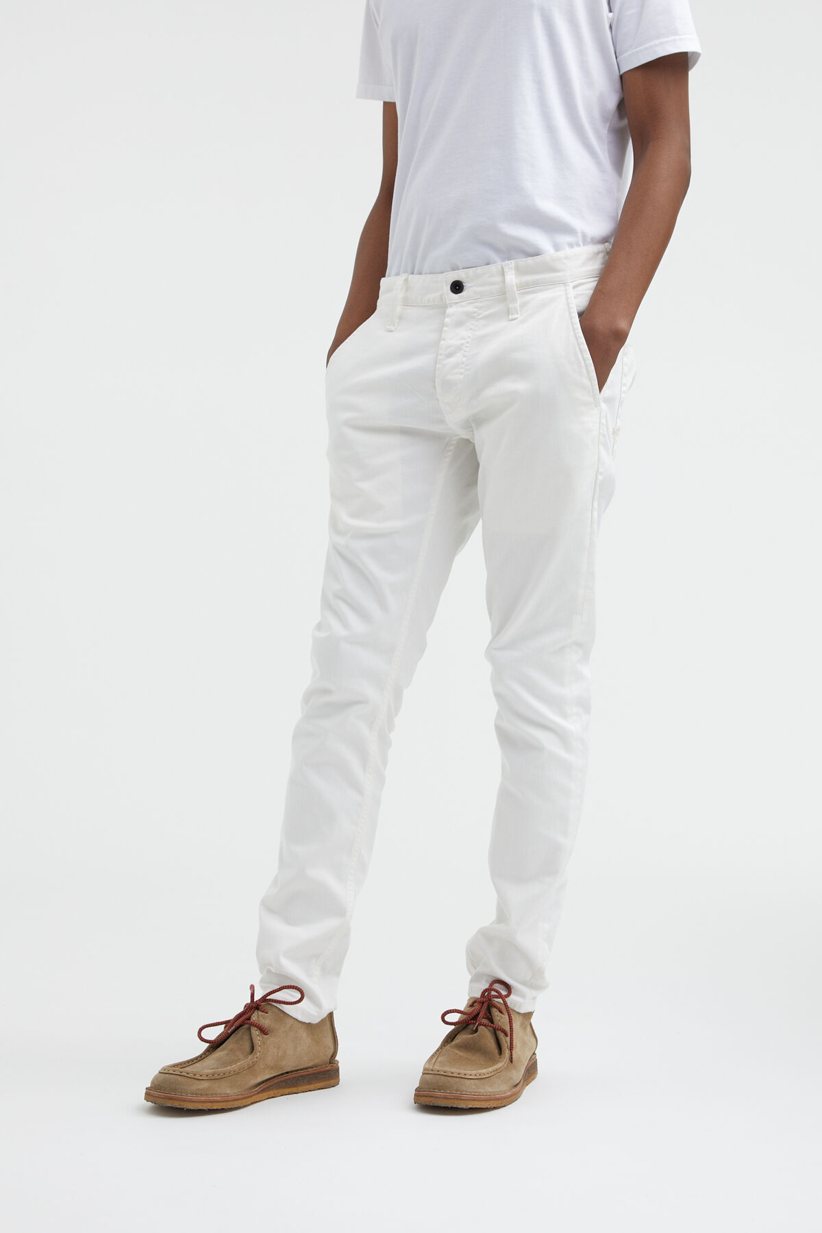 YORK White Clean Finish Denim - Slim Tapered Fit