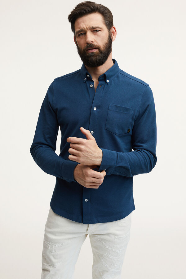 BRIDGE SHIRT Stretch Cotton Pique - Slim Fit