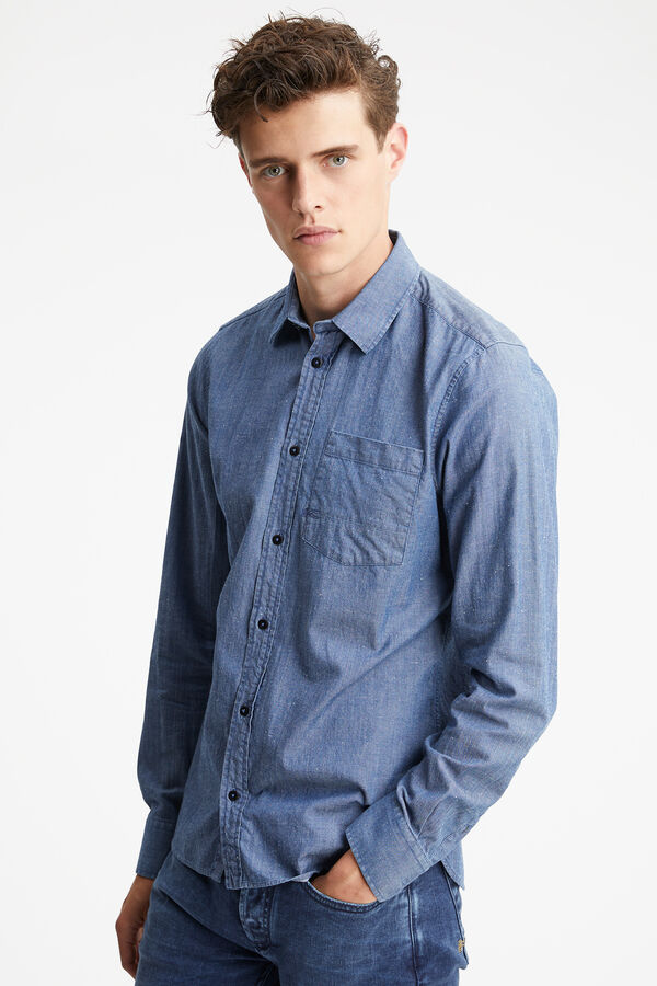 AXEL SHIRT Lightweight Neppy Denim - Slim Fit