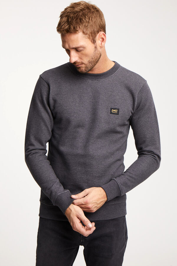 DENHAM APPLIQUE SWEAT Soft Cotton Fleece - Slim Fit