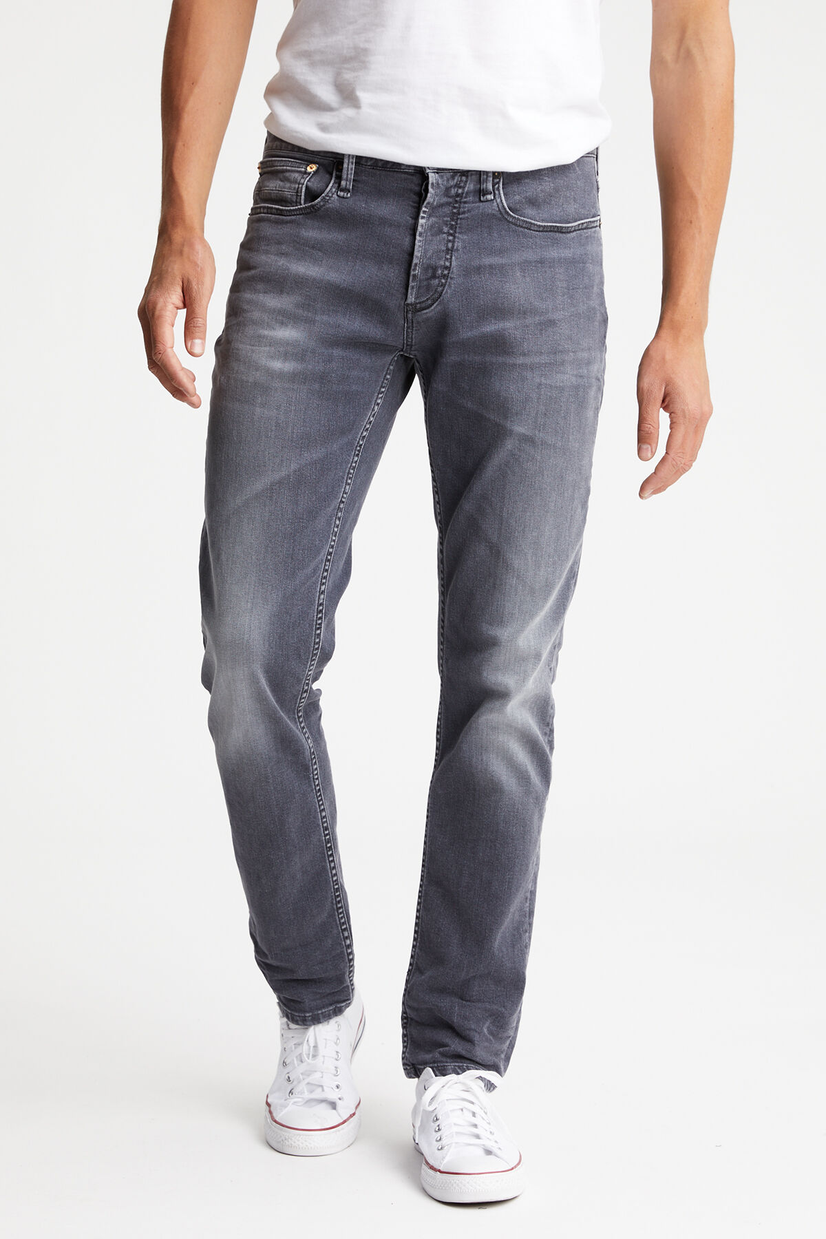 HAMMER Authentic Worn-In Grey Denim - Athletic Fit