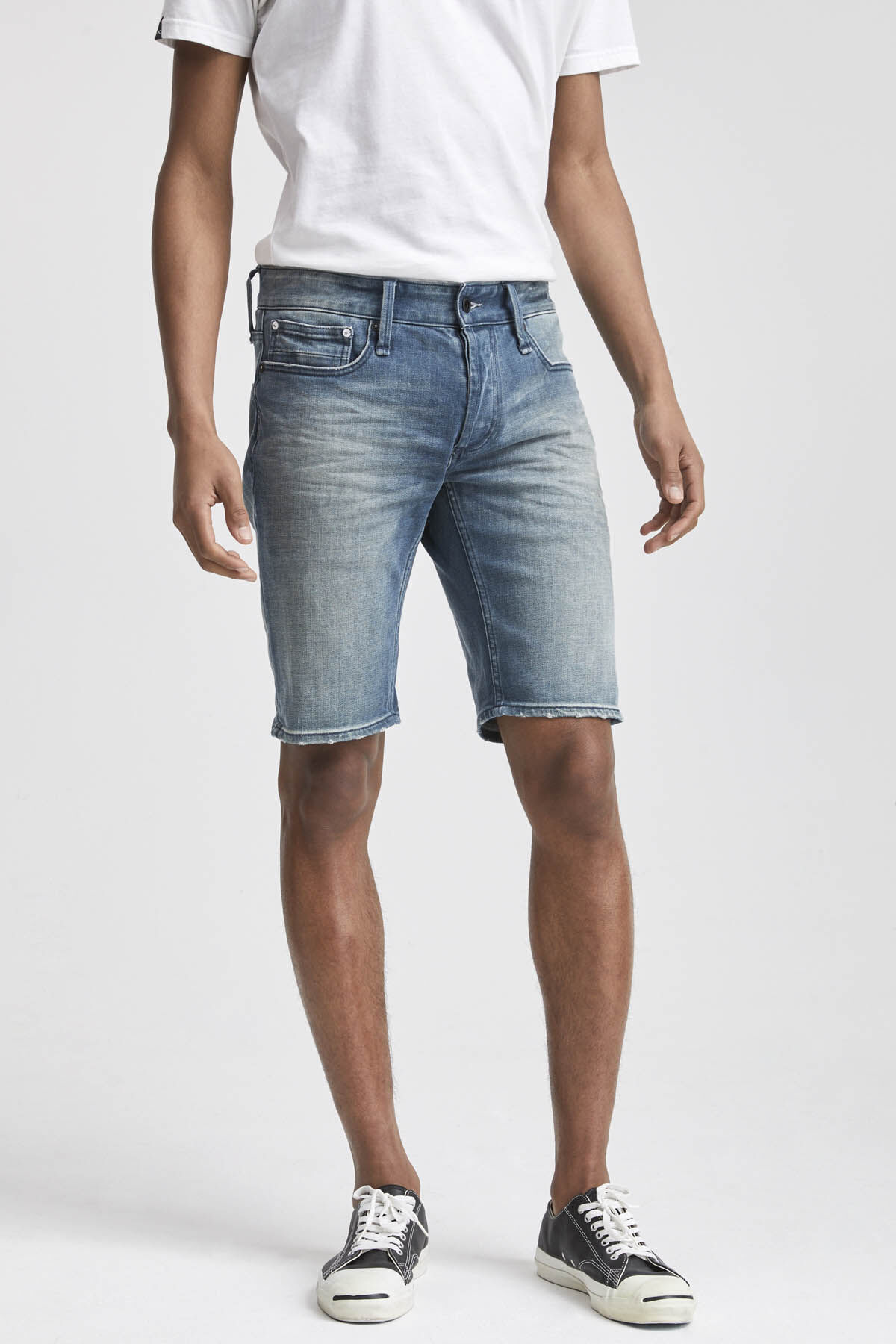RAZOR SHORT 3D Whisker Pattern Denim - Slim Fit