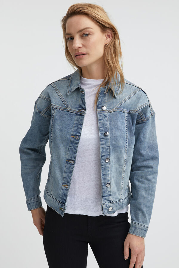 PARIS JACKET Ripped Denim - Oversized Fit