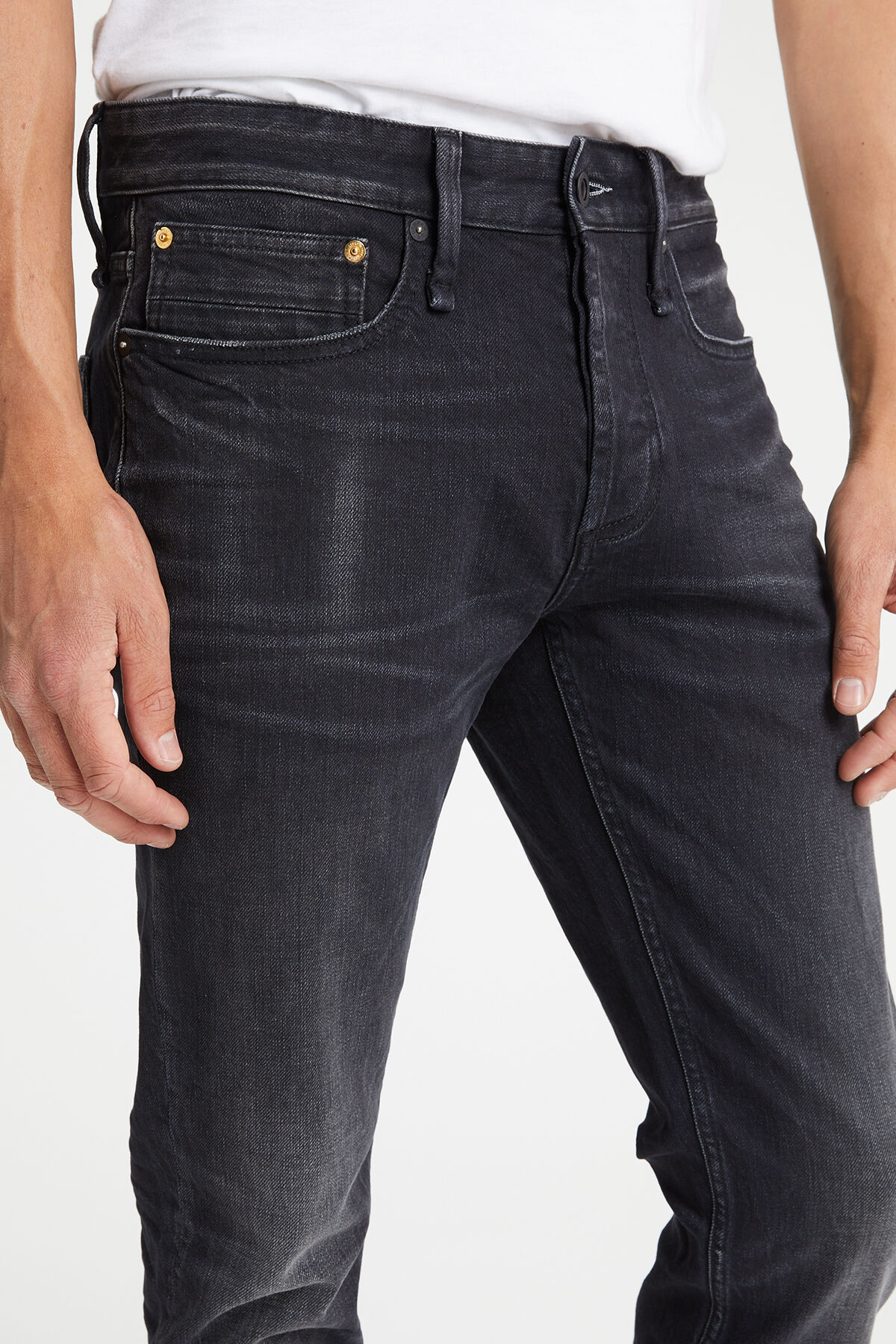 RAZOR Two Year Black Denim - Slim Fit