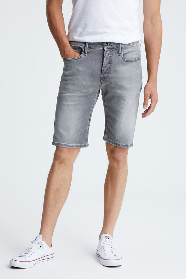 RAZOR SHORT Grey Cast Denim - Slim Fit