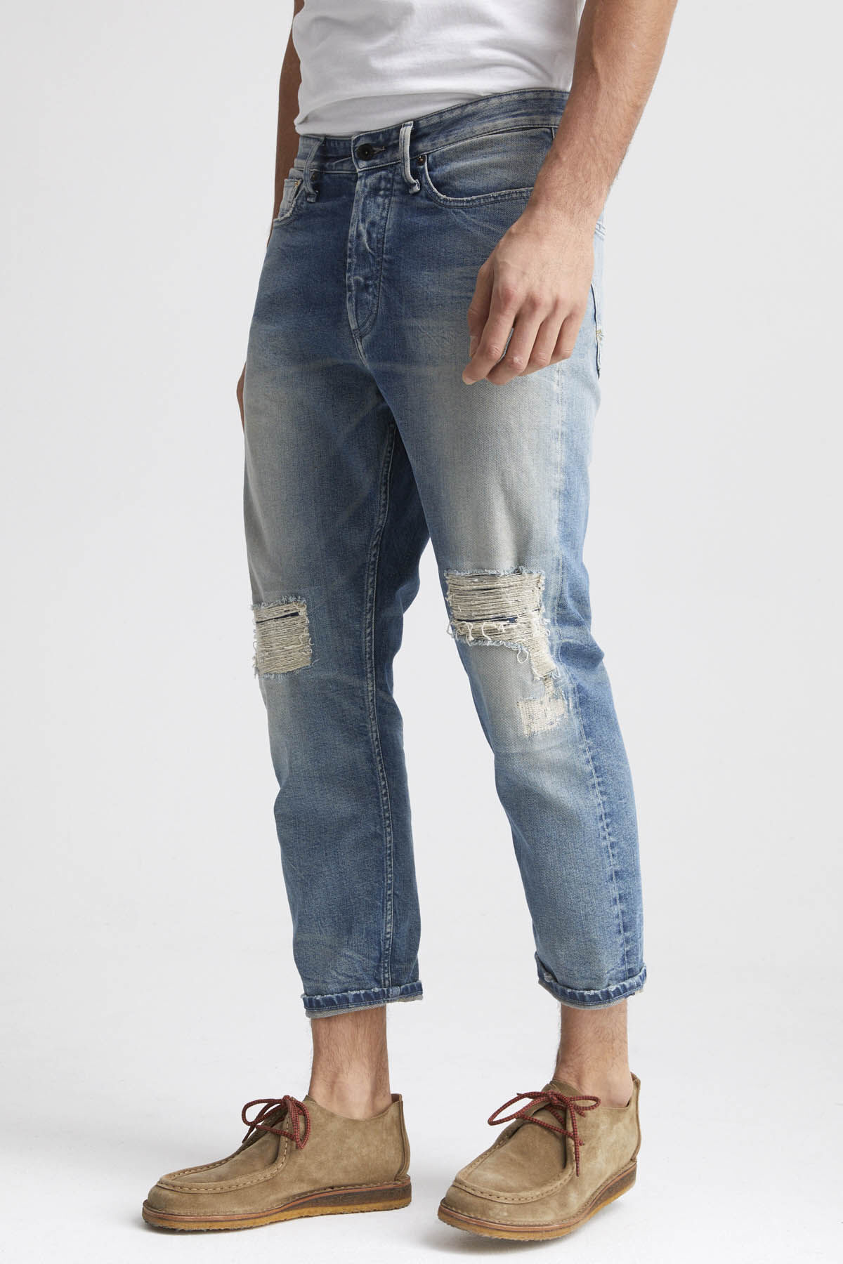 CROP Signature Selvedge Denim - Low Crotch Cropped Fit