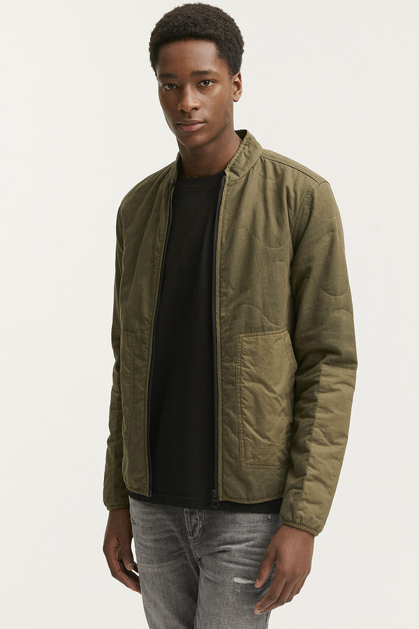 QUILTED OVERSHIRT Cotton outer shell - Regular Fit