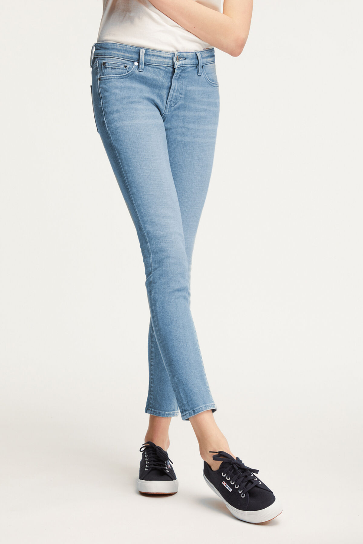 SPRAY Light Blue Denim - Mid-rise, Tight Fit