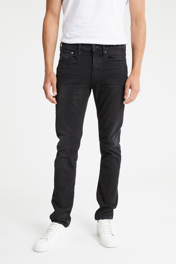 BOLT Soft Brushed Black Denim -  Skinny Fit