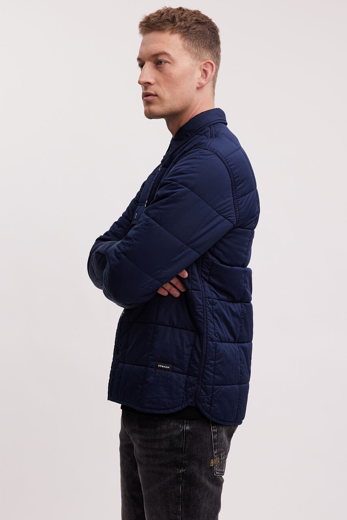 LINCOLN DENIM SHIRT QUILTED COTTON FABRIC - Regular Fit