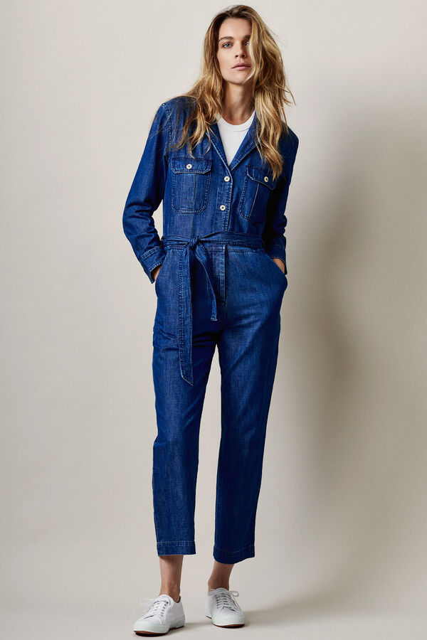 GALLOWAY SUIT Organic Cotton Indigo Denim -