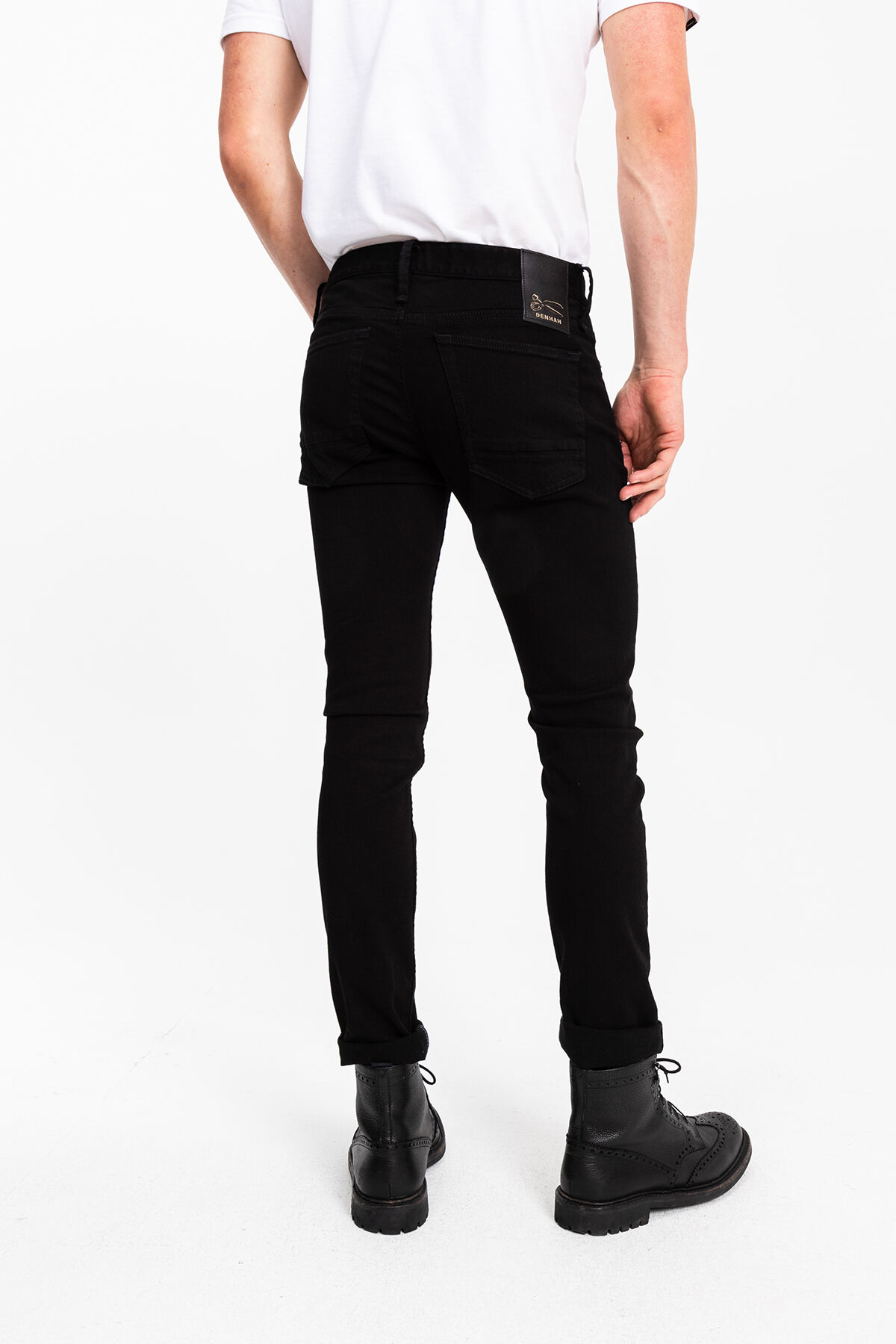 BOLT LEFTHAND DOUBLE BLACK DENIM - Skinny Fit