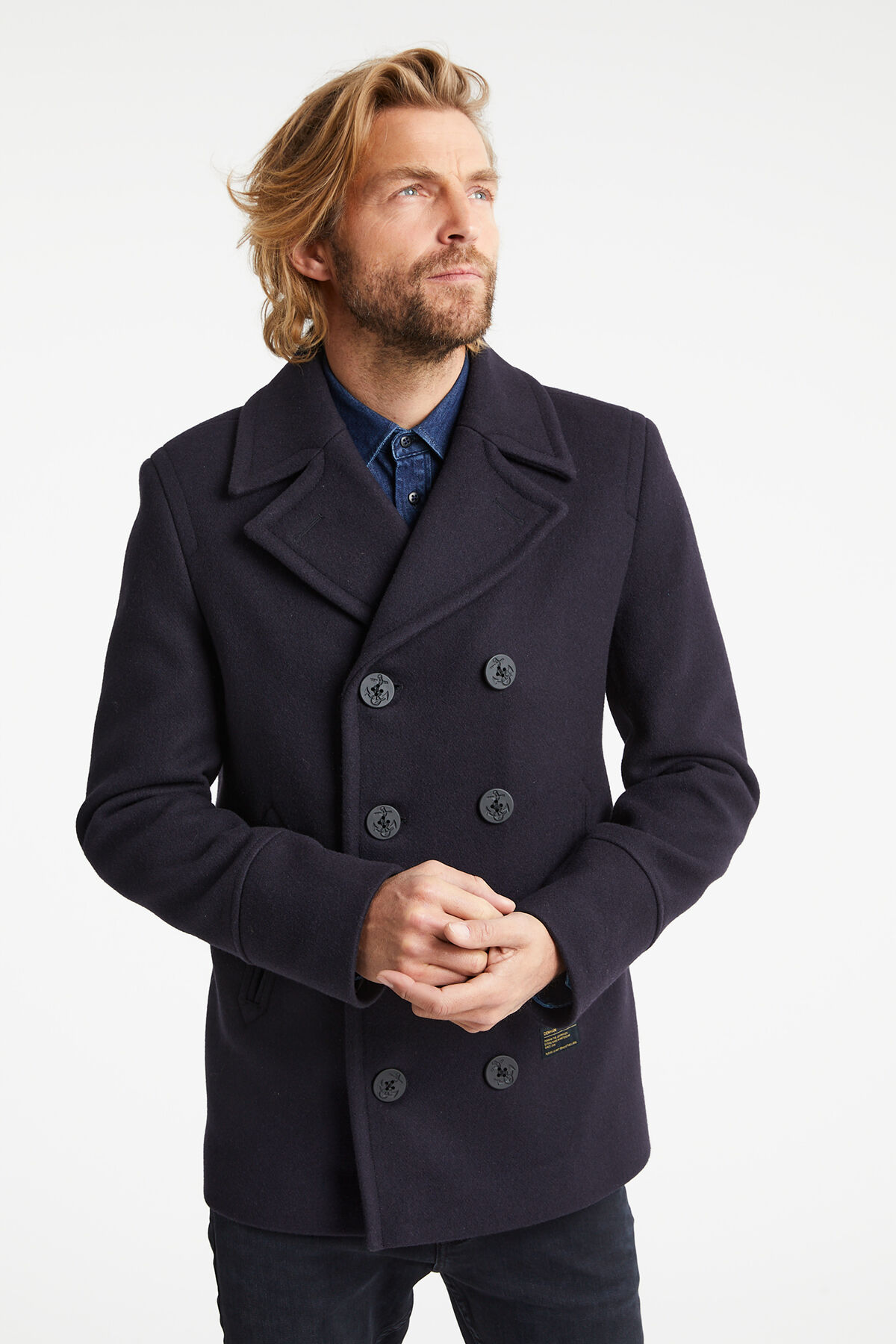 ALFRED COAT Double-breasted Pea coat - Regular Fit