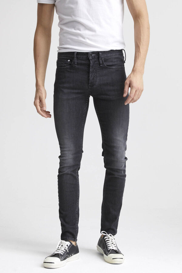 BOLT Black Warp/ Ecru Weft Denim - Skinny Fit