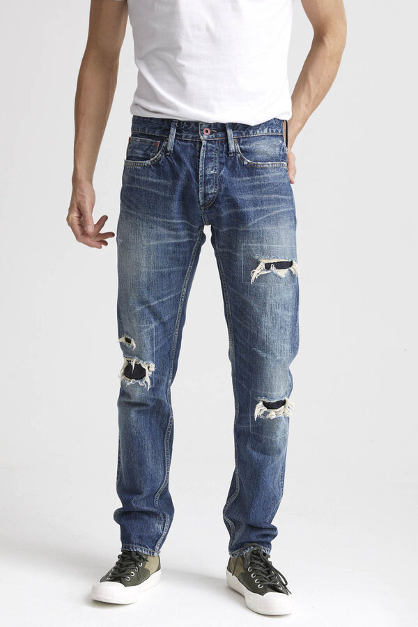 RAZOR Selvedge Repaired Denim - Slim Fit