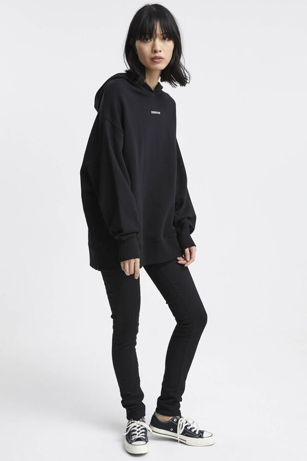 LOGO WISTERIA HOODY Cotton Sweat - Oversized Fit