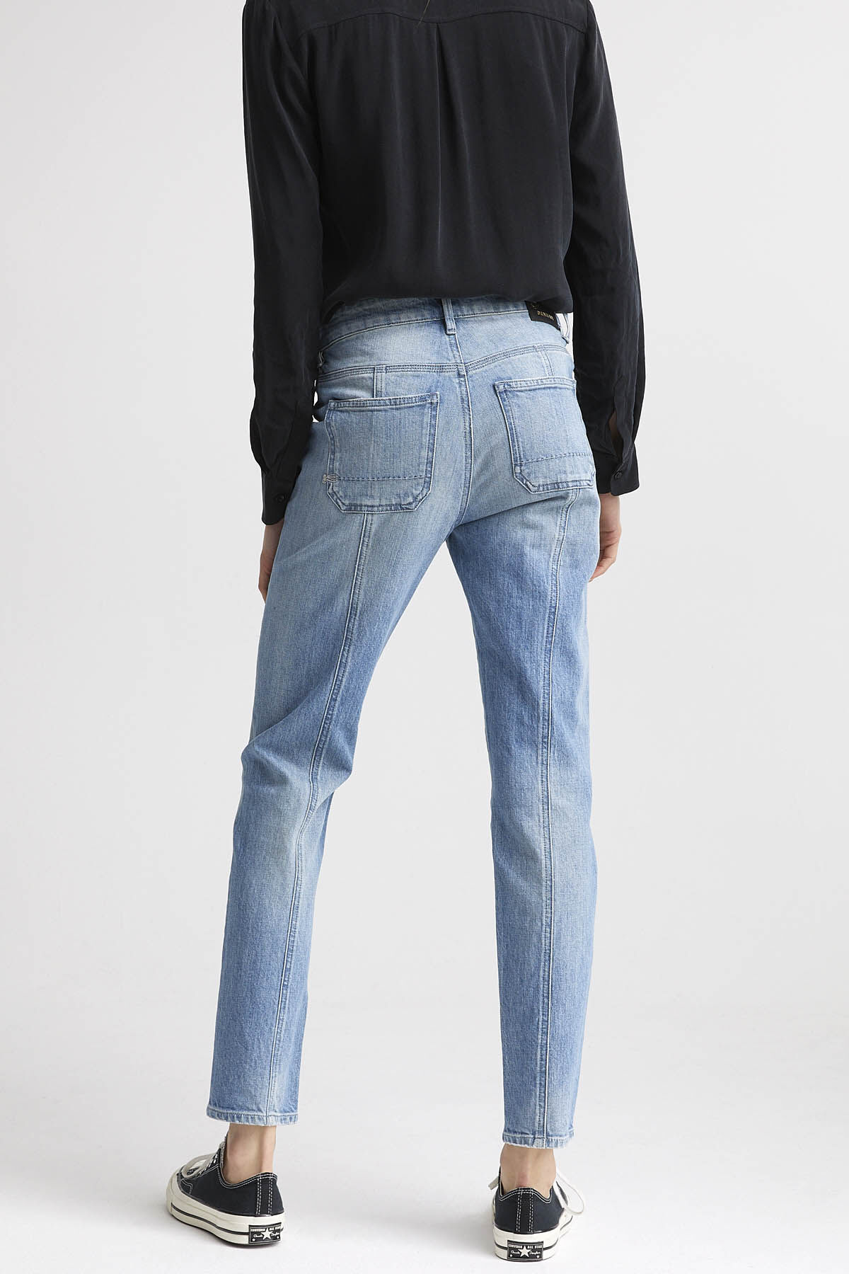 WHISPER JEANS Organic Cotton Denim - High-rise Straight Fit