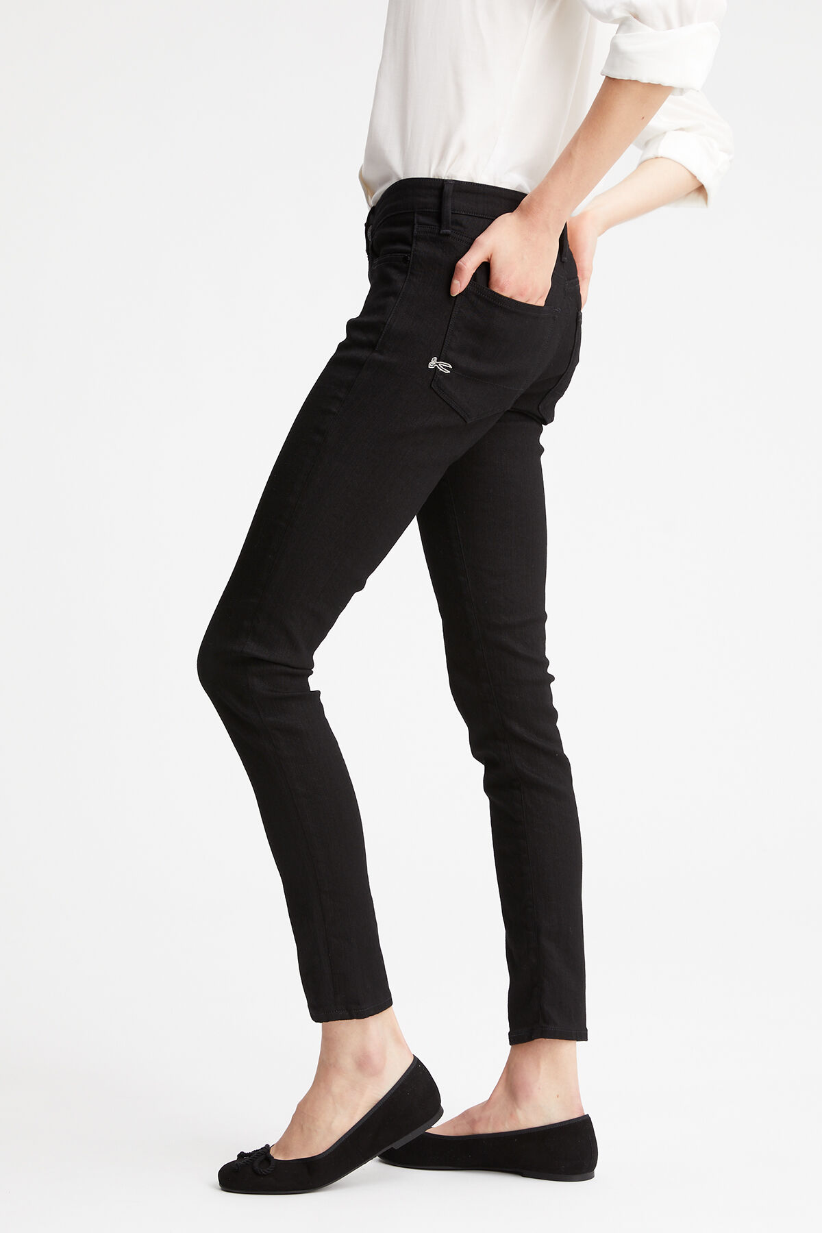 SHARP Black Power Stretch Denim - Mid-rise, Skinny Fit