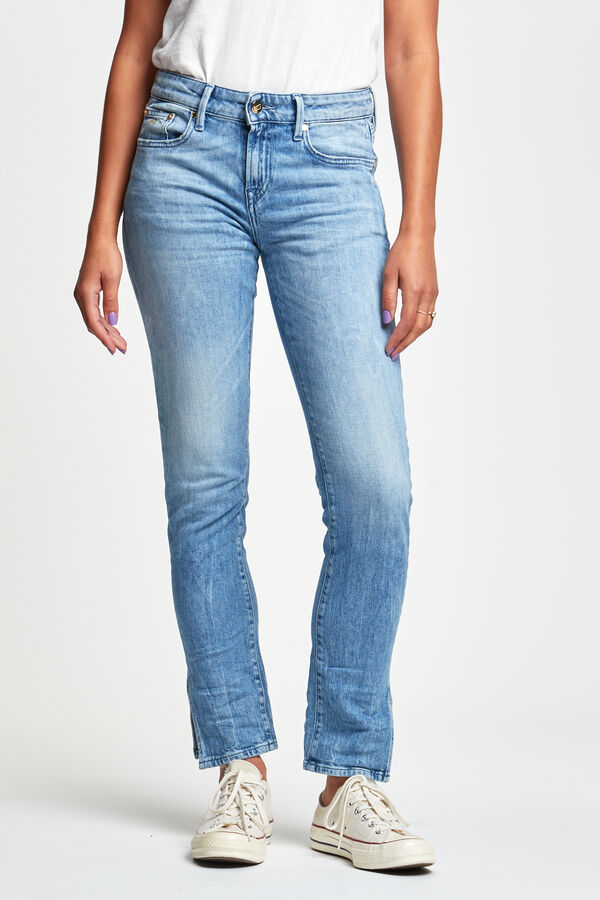 LIZ ANKLE Medium-aged sustainable denim - Straight Fit