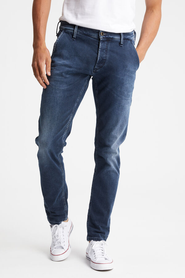 YORK Dark wash, light fade - Slim Tapered Fit